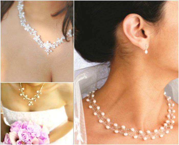 Изящные ожерелья и серьги