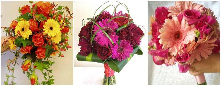 Букет из розовых гербер и роз — 9