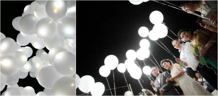 Подсветка воздушной декорации