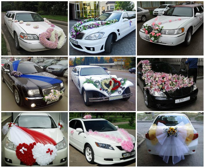 Своими руками украшение машин на свадьбу