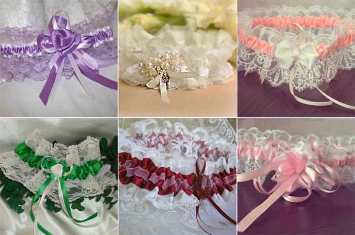 Свадебная подвязка своими руками 101