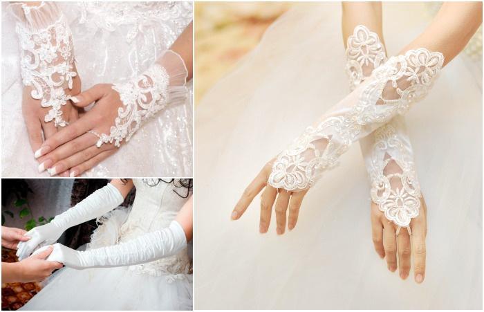 Свадебные аксессуары 2017: перчатки