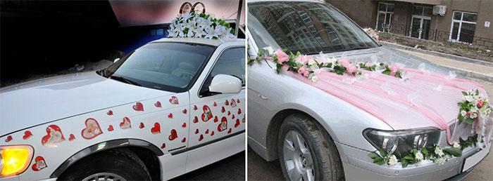 Декор машины на свадьбу своими руками