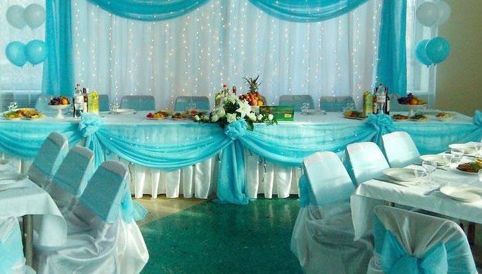 Оформление зала на свадьбу своими руками