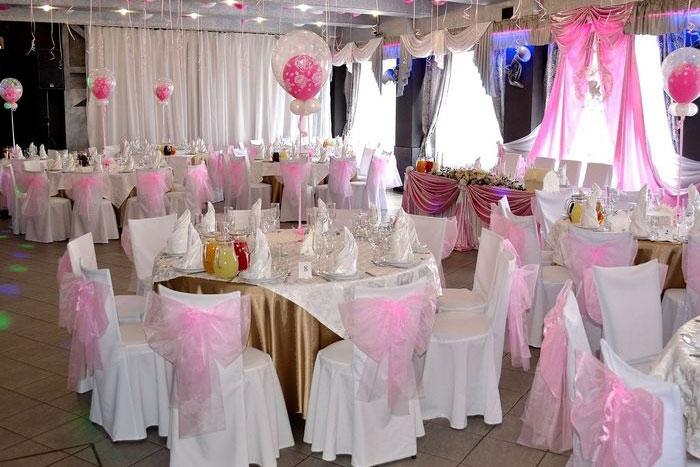 Декор банкетного зала на свадьбу своими руками