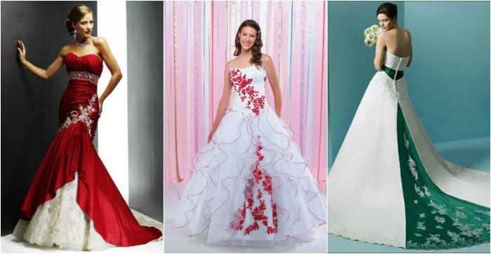 Необычные цвета свадебных нарядов
