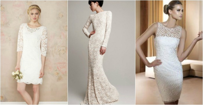 Платья-футляры для невесты