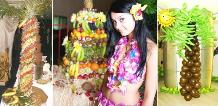 Аксессуары, соответствующие стилю гавайского девичника