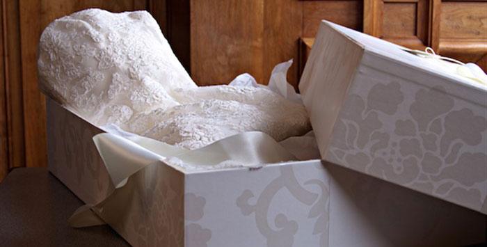 Хранение свадебного наряда после свадьбы