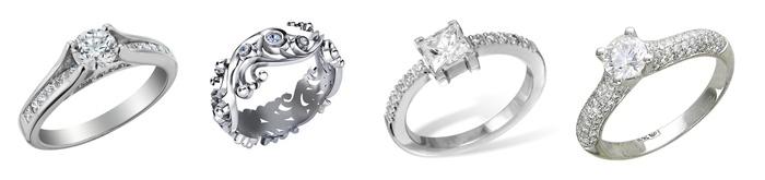 Фото: кольца на помолвку