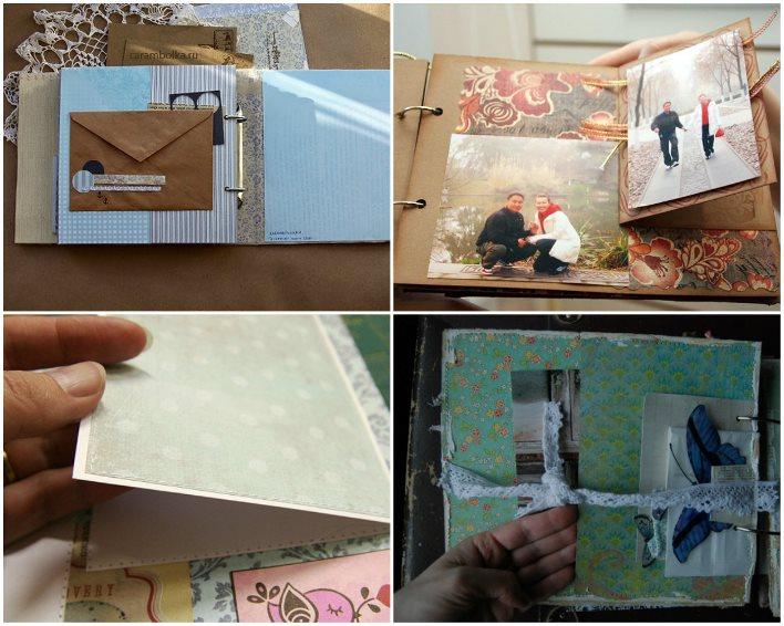 Секретики между страниц свадебного скрап-альбома