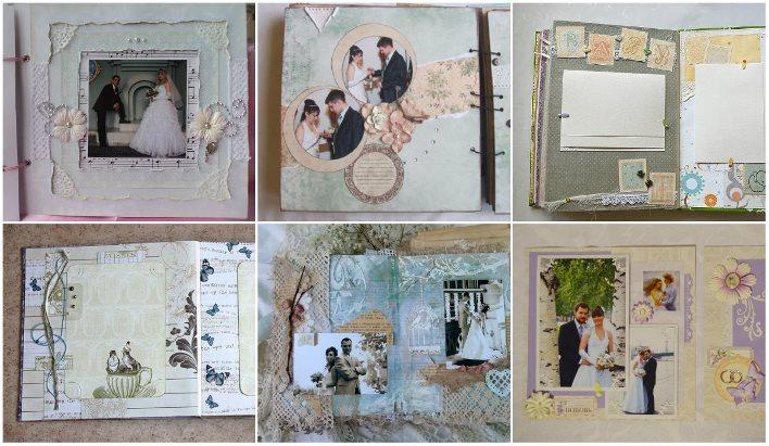 Оформление скрап страниц свадебного альбома