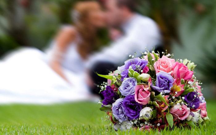 Красивая цветовая композиция для невесты