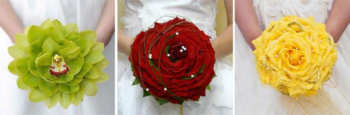 Необычный свадебный букет гламелия