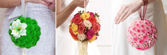 Свадебные цветы в форме шара