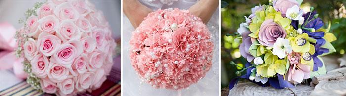 Круглый свадебный букет