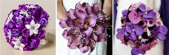 Нежные сиреневые цветы на свадьбу