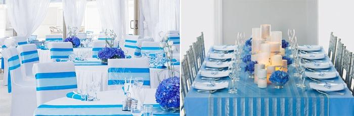 Бело-голубой зал для морячек