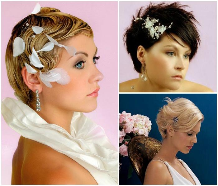 Фото: Прически для невесты на короткие волосы