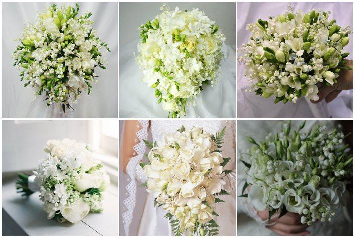 Европейский букет из ландышей на свадьбу, букет из кустовых хризантем и альстромерий