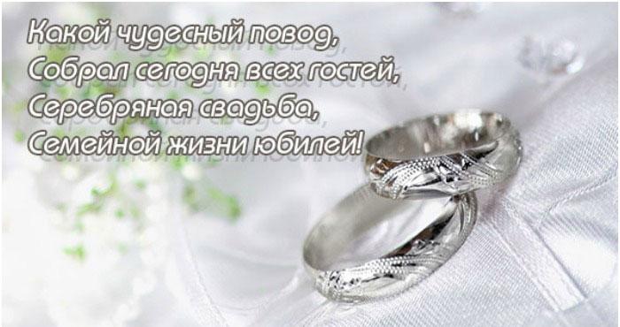 Открытка и поздравление с серебряной свадьбой, художник