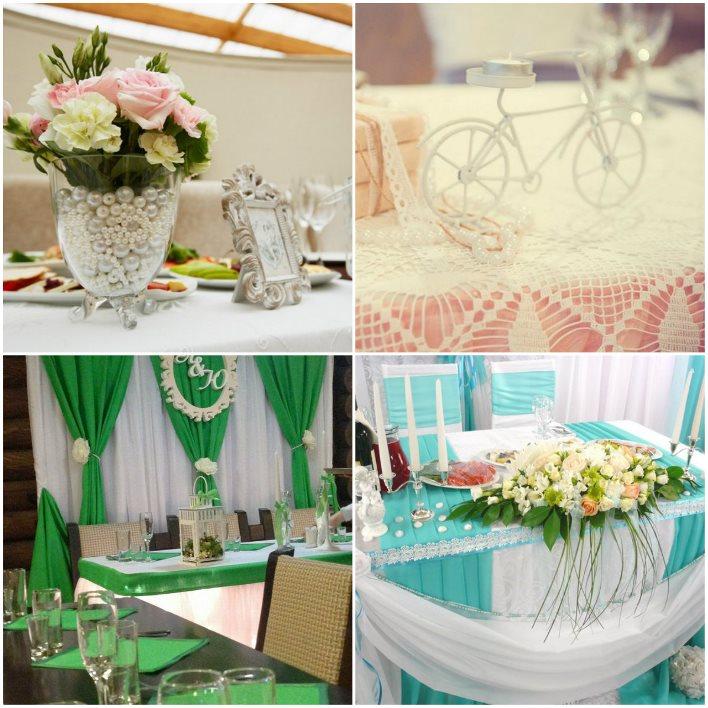 Кружево для декора свадебного стола молодоженов