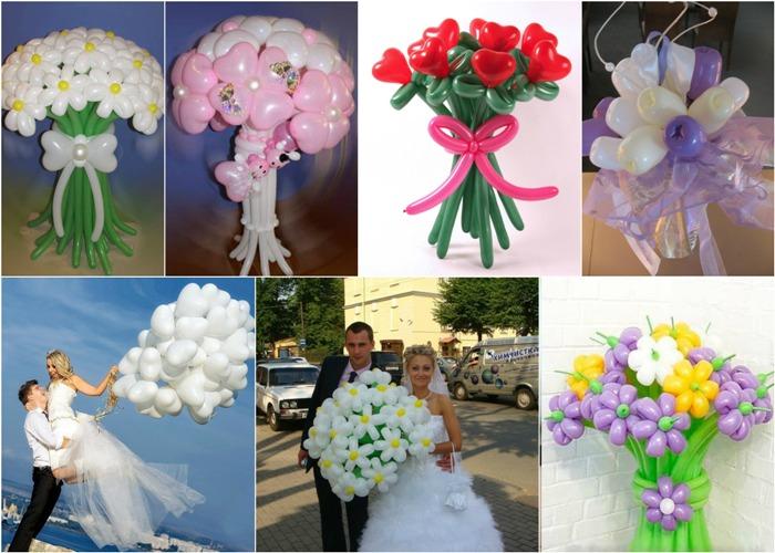 Составление свадебный букет шаров, букет капала