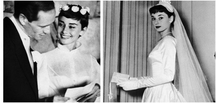 Свадебная прическа с фатой - Одри Хепберн