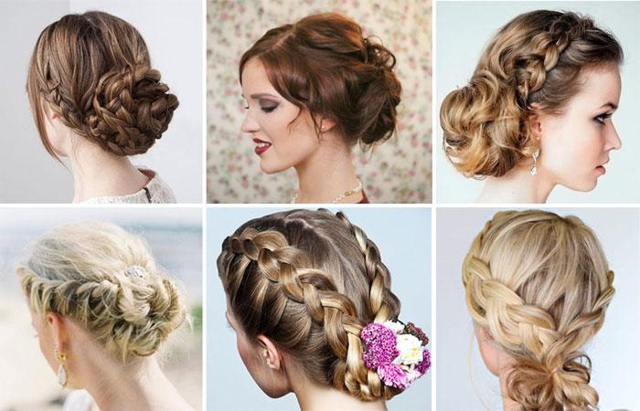 Свадебные простые прически с косами