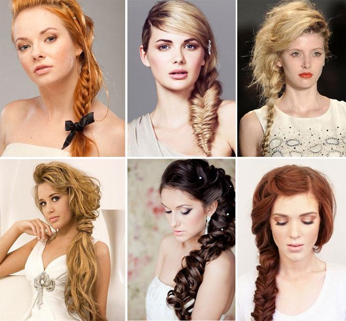 Простая богемная коса для невесты