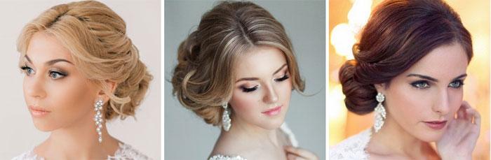 Свободный пучок для невесты