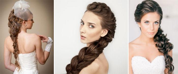 Как просто уложить волосы на свадьбу косами