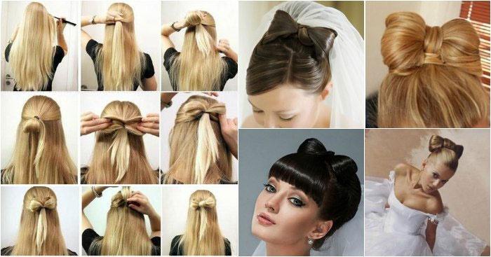 «Бант» из длинных волос