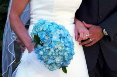 Бирюзовые свадебные букеты