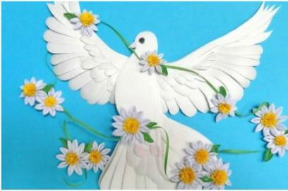 Бумажные голуби на свадьбу