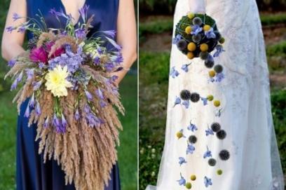 Дизайнерские свадебные букеты
