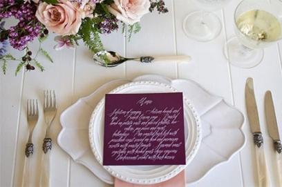 Банкетное меню на свадьбу