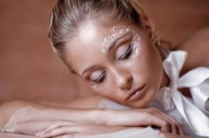 Необычный свадебный макияж