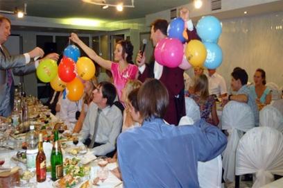 Свадебные конкурсы с шариками