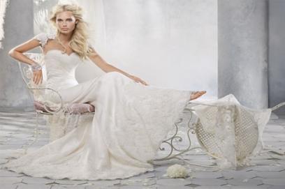 Шелковые свадебные платья