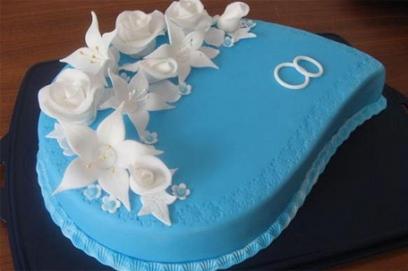 Торт в синем цвете на свадьбу