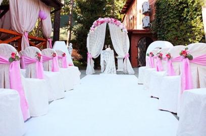 Свадьба в бело розовом цвете