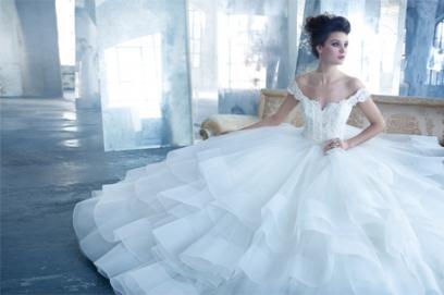 Свадебное платье из органзы