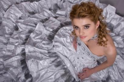 Свадебное платье из парчи