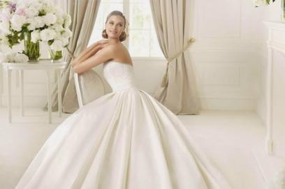 7d0ccb617a67c33 Свадебное платье из тафты: модели коротких и пышных