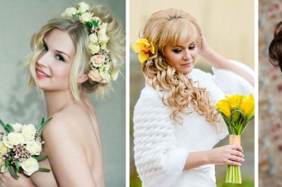 Свадебные прически с цветами