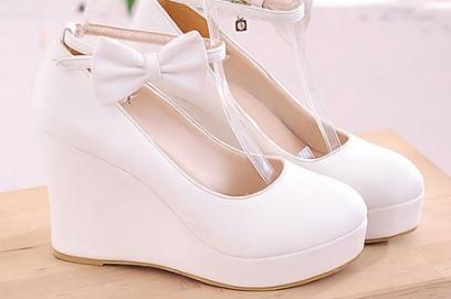 Свадебные туфли на платформе – фото
