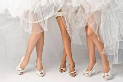 Свадебные туфли на высоком каблуке – фото