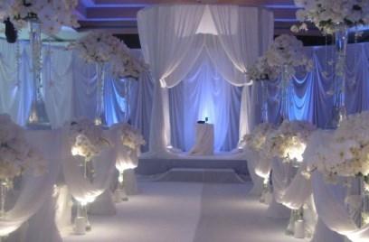Украшение стен на свадьбу