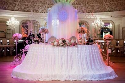 Украшения свадебного стола фото